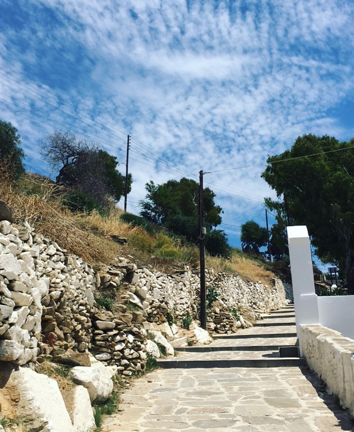Path leading up to Chora Village